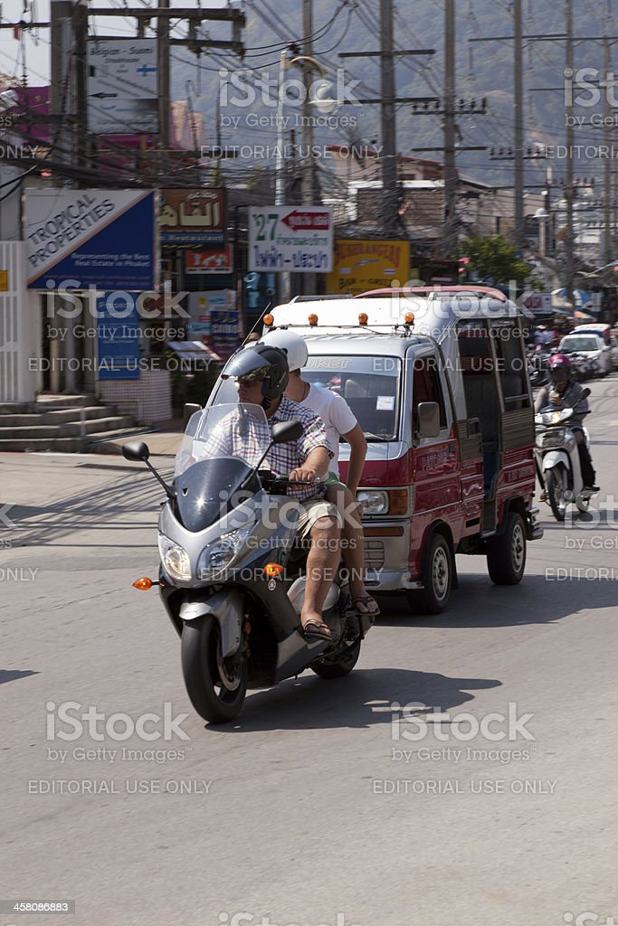 Street Patong town, Action, Blurred Motion royalty-free stock photo