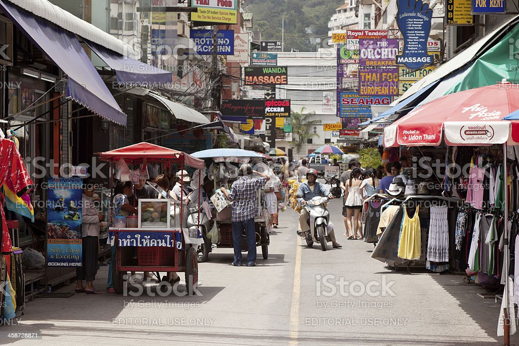 Street Patong town stock photo