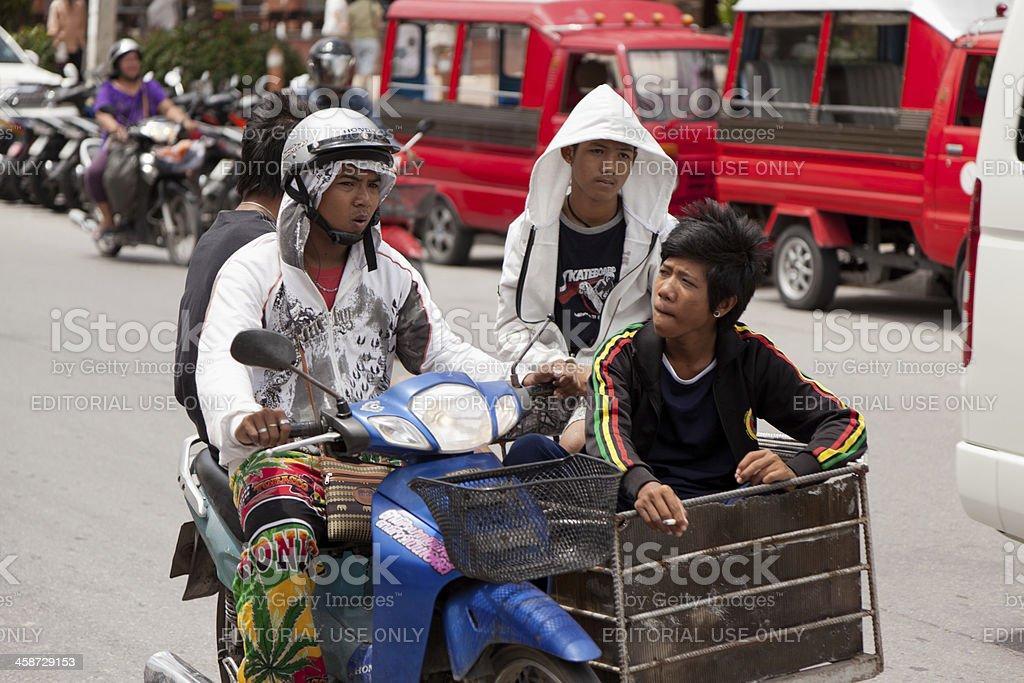 Street Patong town royalty-free stock photo