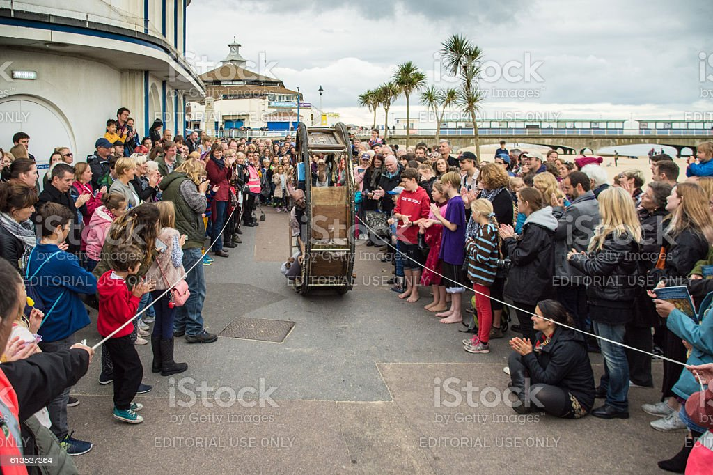 Street Performace The Wheel House Bournemouth 2016 stock photo
