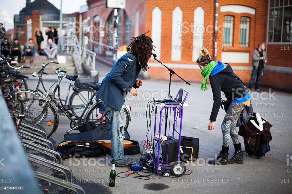 Street performance. Berlin royalty-free stock photo