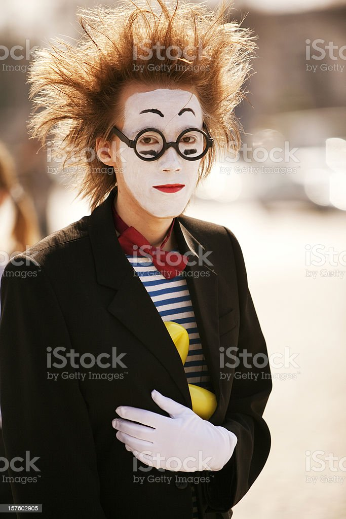 Street performance: mime royalty-free stock photo
