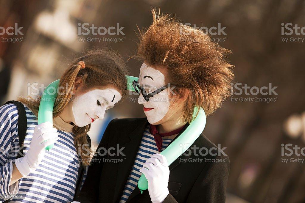 Street performance: mime royalty-free stock photo