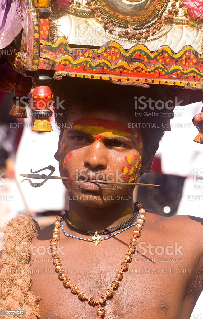 Street Performer from India stock photo