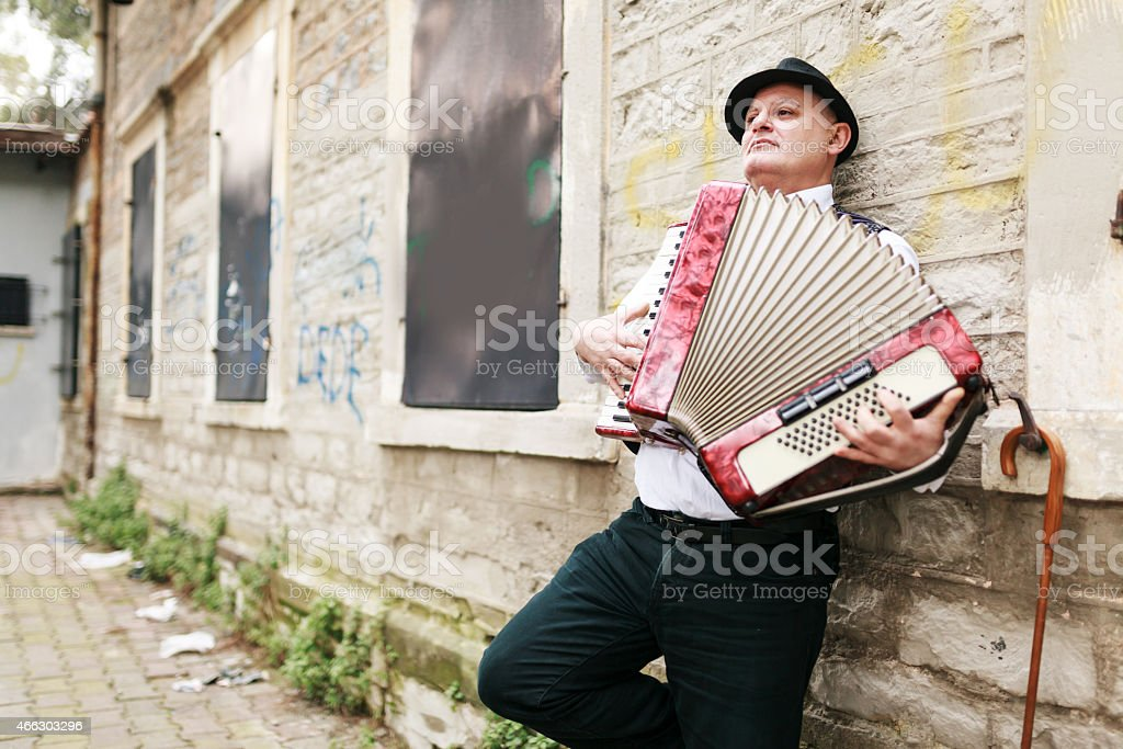 Street Performer stock photo
