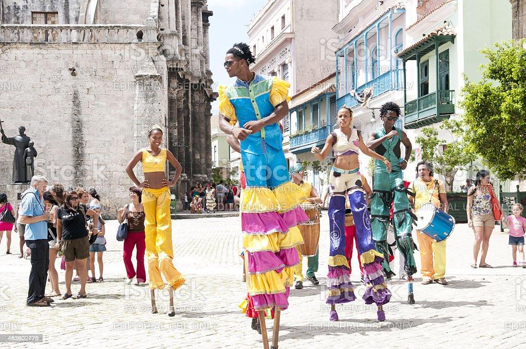 street performer royalty-free stock photo