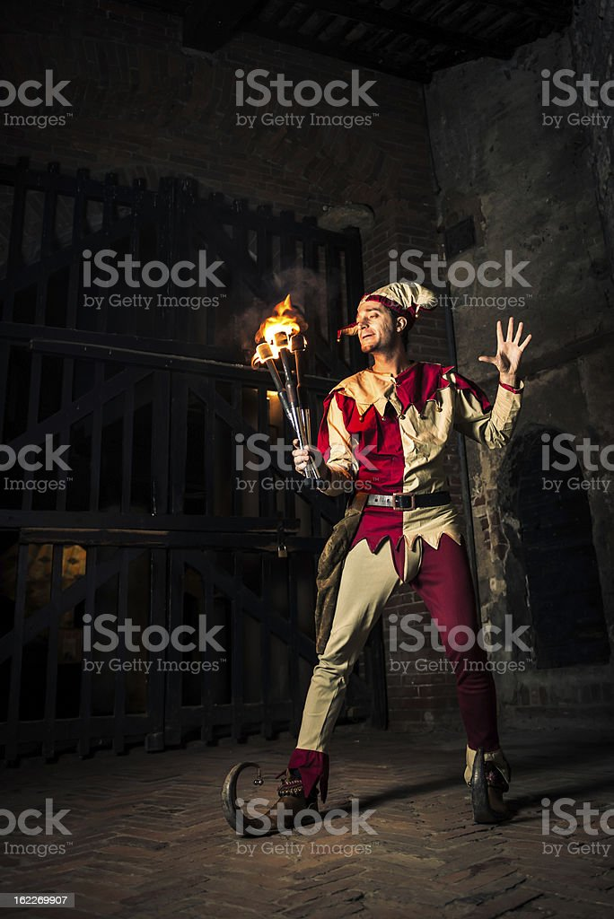 Street performer The Joker royalty-free stock photo