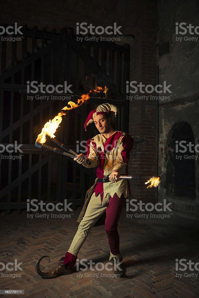 Street performer The Joker stock photo