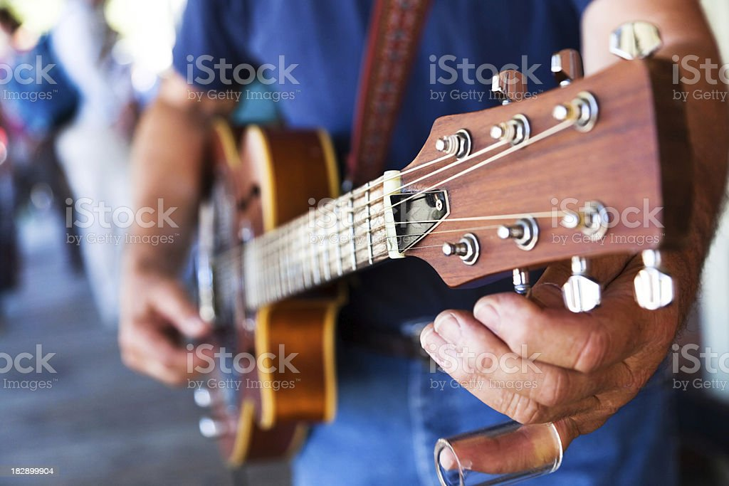 Street Performer Tuning stock photo