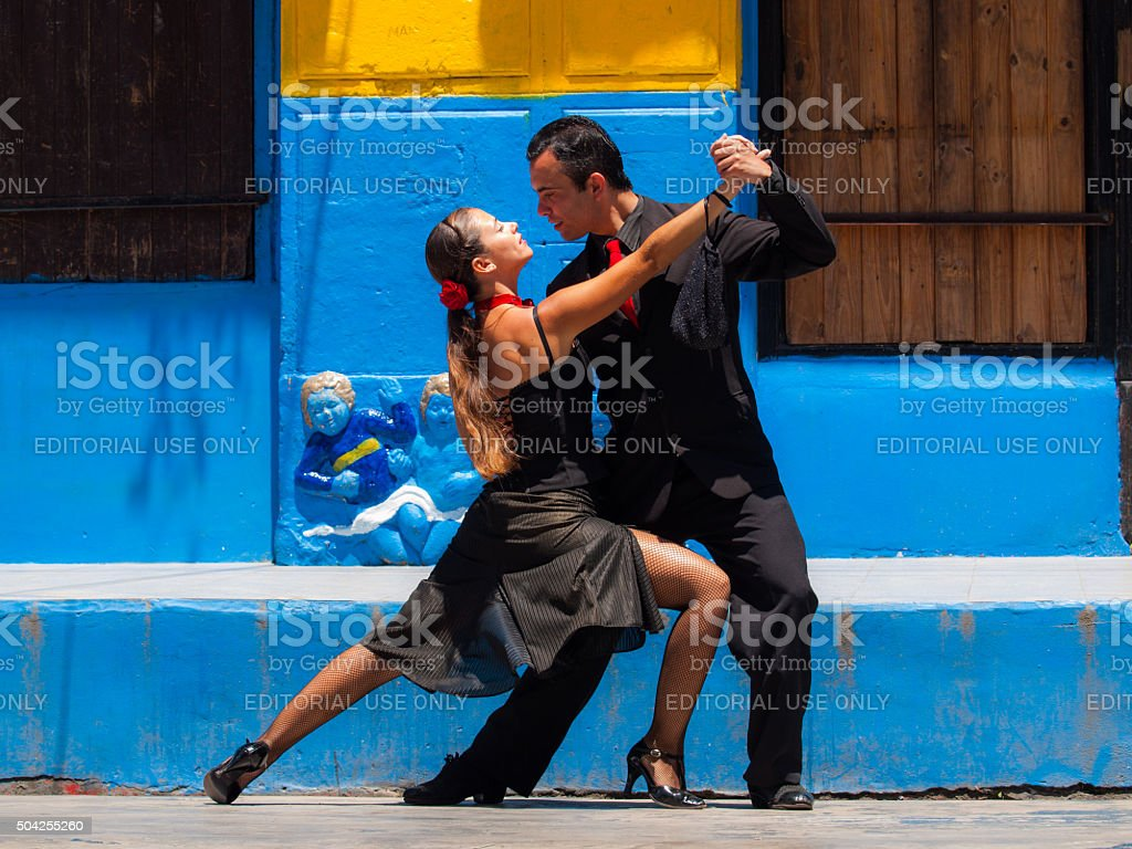 Street performers in Buenos Aires, Argentina stock photo