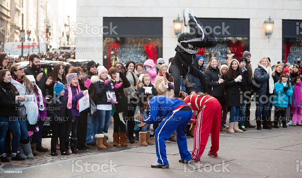 Street performers next to the Central Park. royalty-free stock photo
