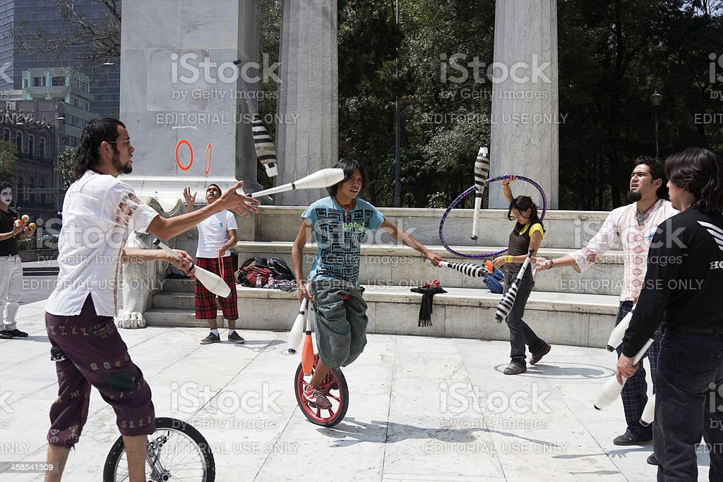 Street performes in mexico city royalty-free stock photo