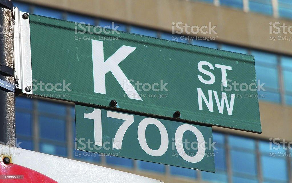 K Street royalty-free stock photo