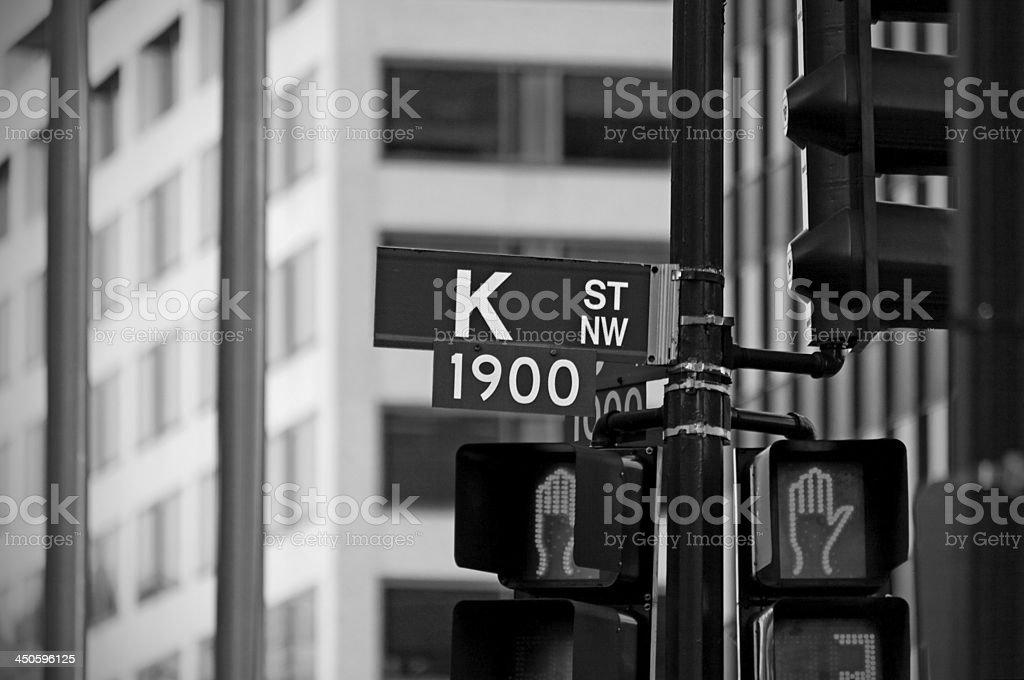 K Street stock photo