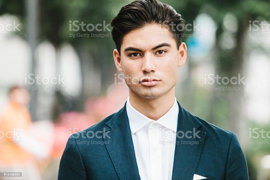 Street Portrait of an Asian Businessman stock photo