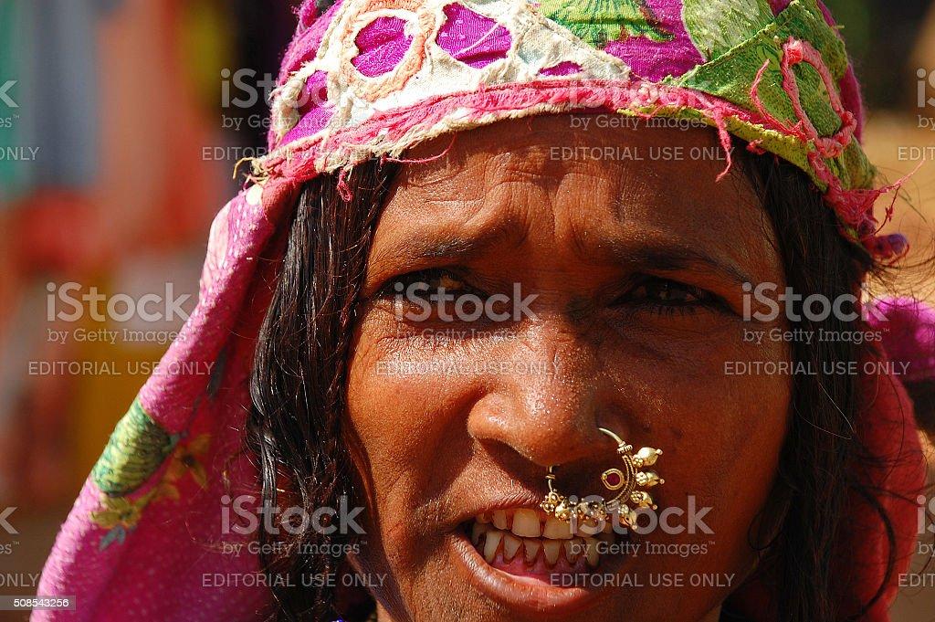 Street Portrait of Goan Woman stock photo