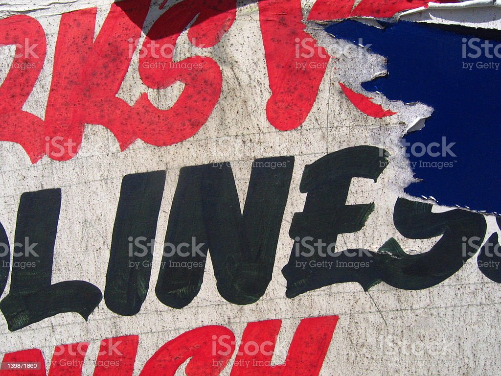 street poster type stock photo