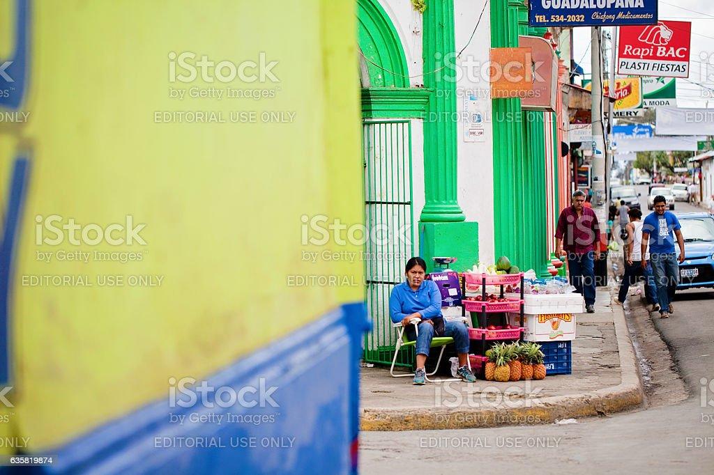Street Produce Vendor stock photo