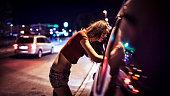 Street prostitute of Eastern Europe