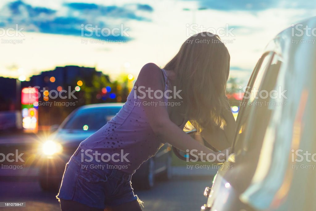 Street prostitute of Eastern Europe stock photo