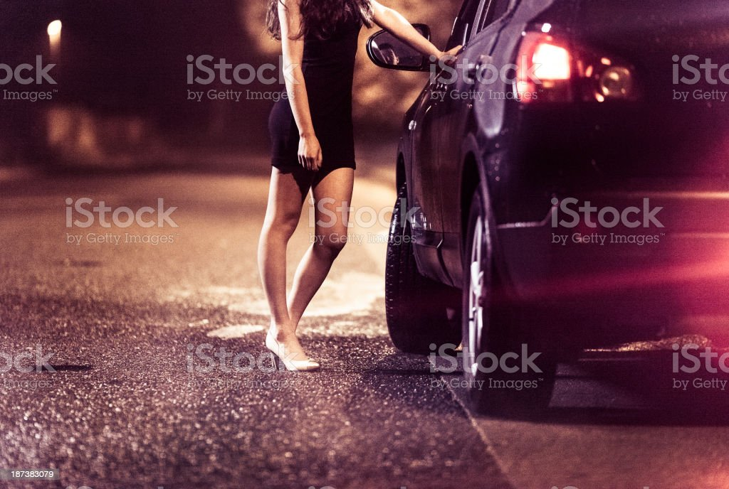 Street prostitute stock photo