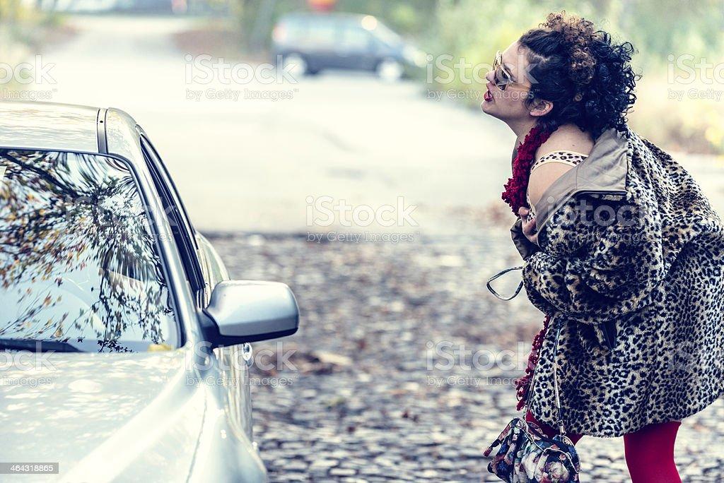 Street prostitute royalty-free stock photo