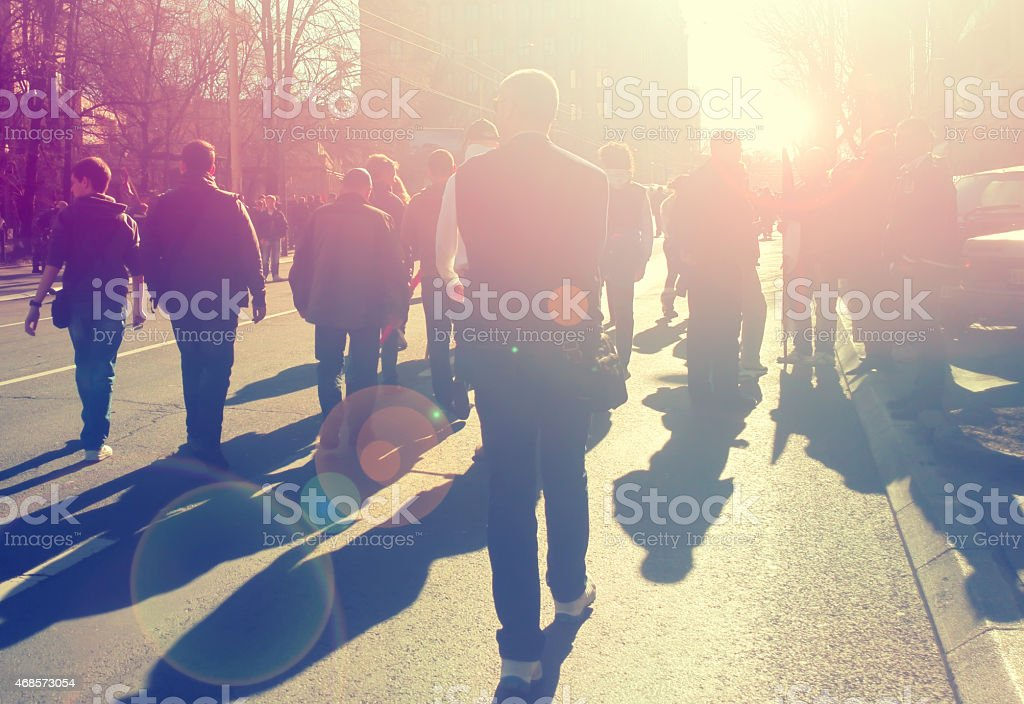 Street protest stock photo