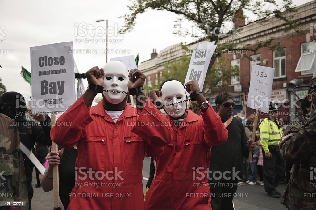 Street protesters stock photo