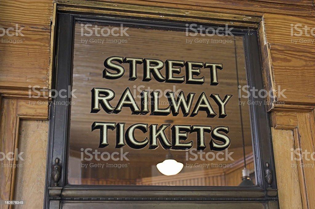 Street Railway Ticket Window royalty-free stock photo