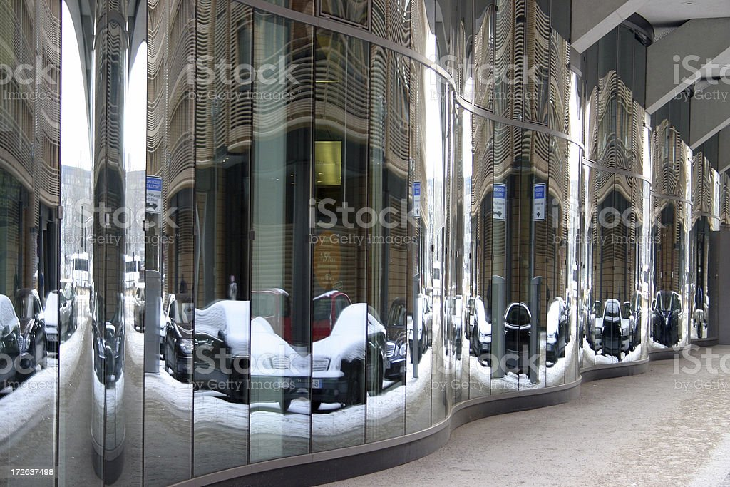 Street reflection royalty-free stock photo