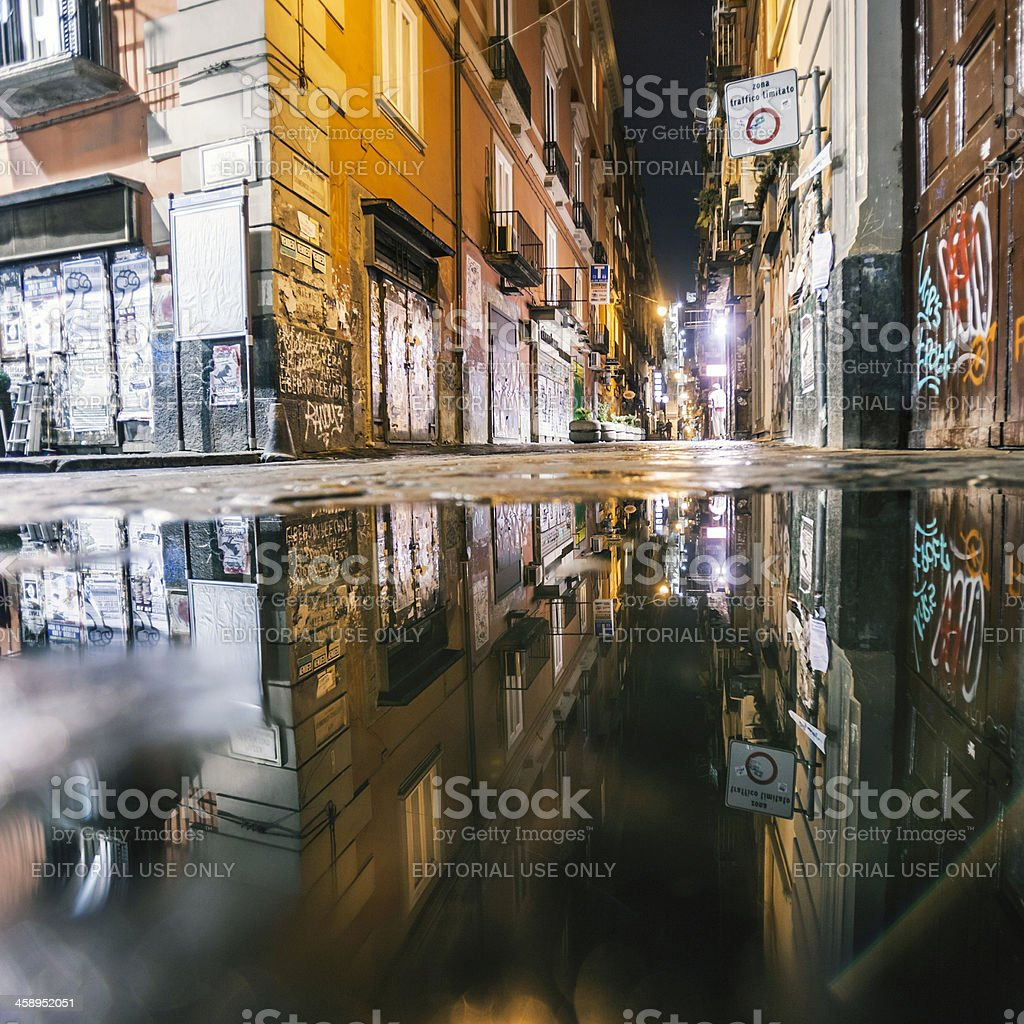 Street reflections. stock photo