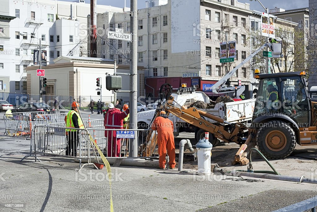 Street Repair stock photo
