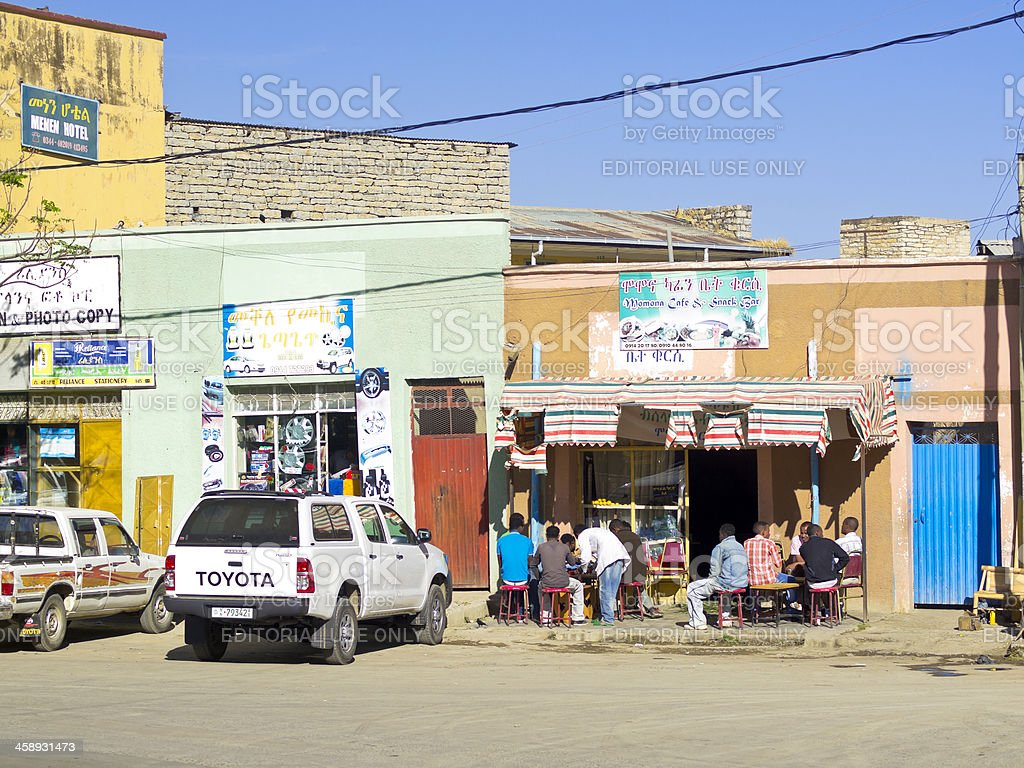 Street restorant stock photo