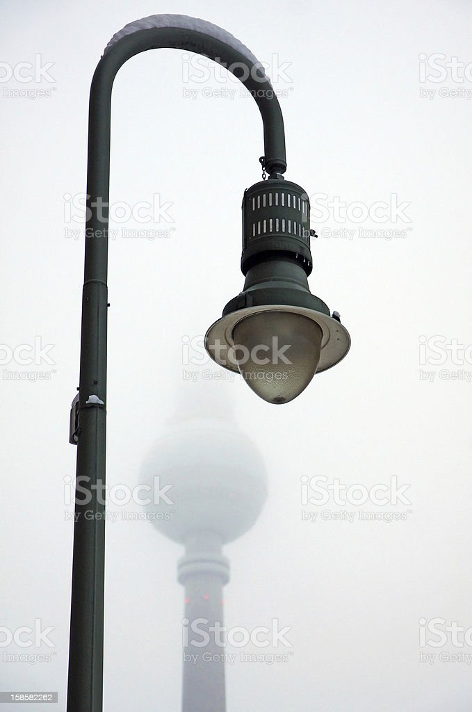 Street retro lampost in Berlin royalty-free stock photo