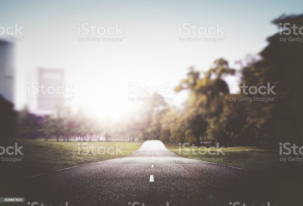 Street Road Cityscape Nautre Sun Light Concept stock photo