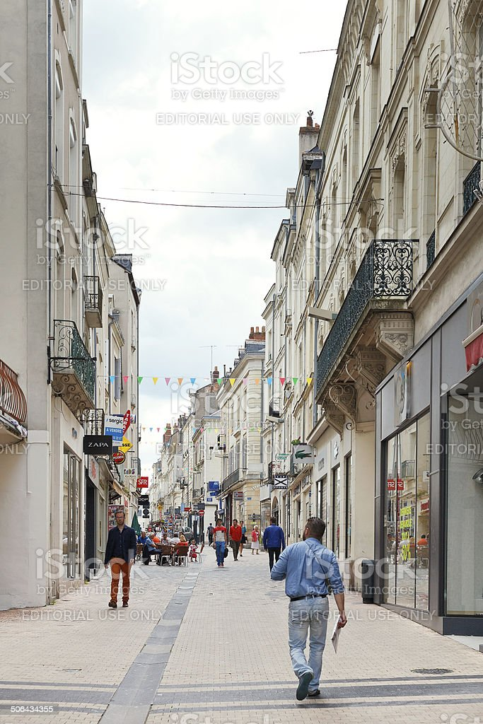 street Rue Baudriere in Angers, France stock photo