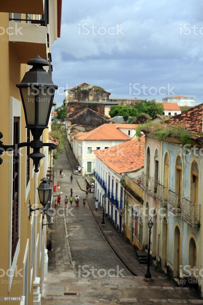 street sao luis of maranhao brazil stock photo