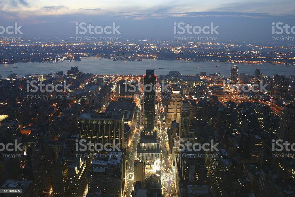NYC street scape royalty-free stock photo
