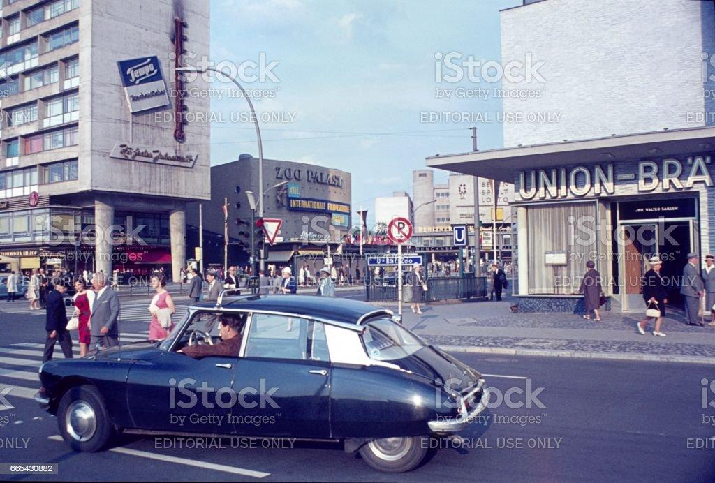 Street scene, Berlin West, 1963 stock photo