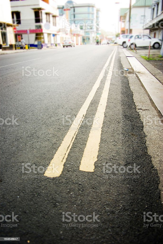 street scene; end of the line royalty-free stock photo