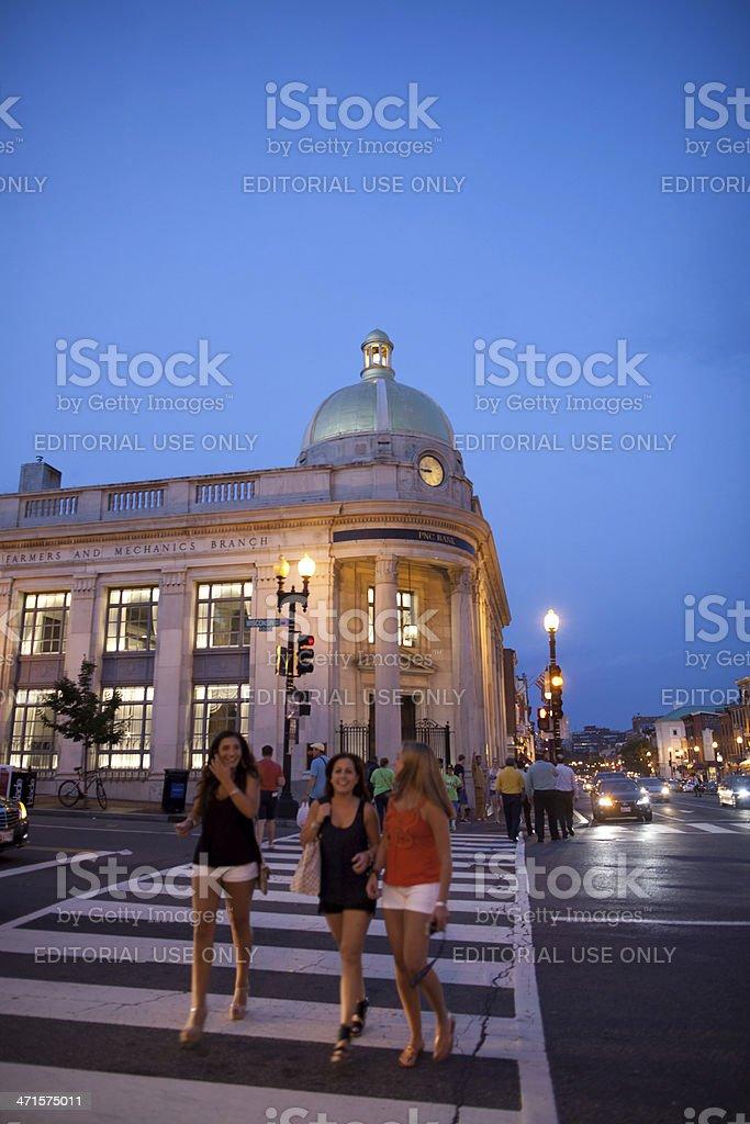 Street scene, Georgetown, Washington DC stock photo
