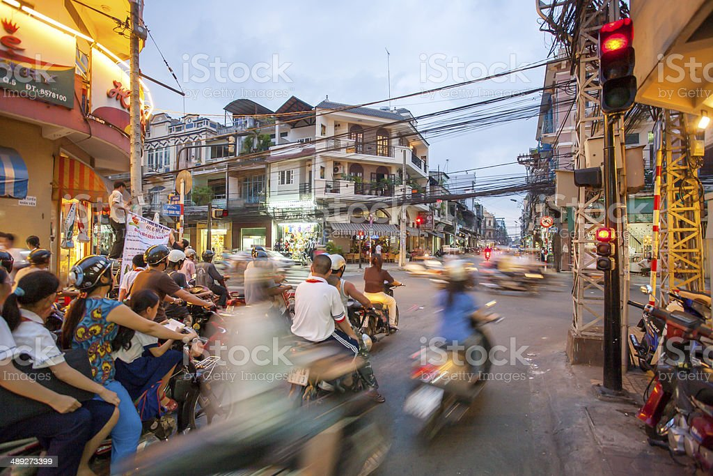 Stra?enszene Ho-Chi-Minh-Stadt stock photo