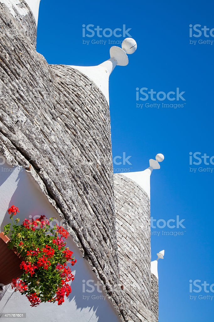 Street scene in Alberobello, Puglia stock photo