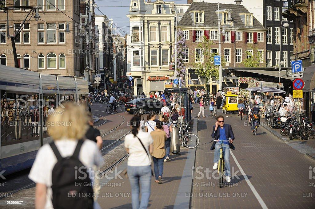 Street scene in Amsterdam royalty-free stock photo