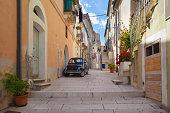 Street scene in an Italian village