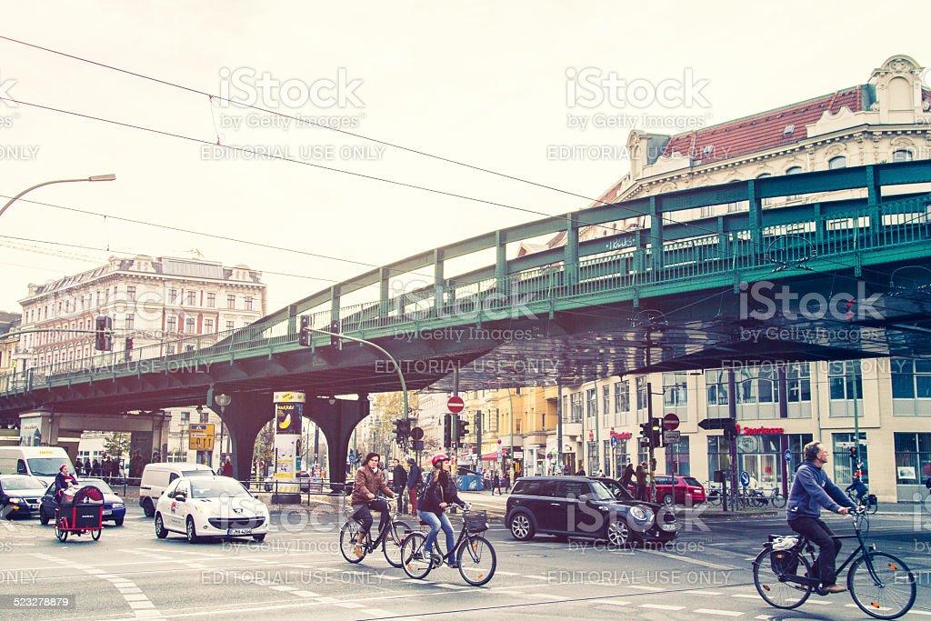 Street Scene In Berlin Prenzlauer Berg stock photo