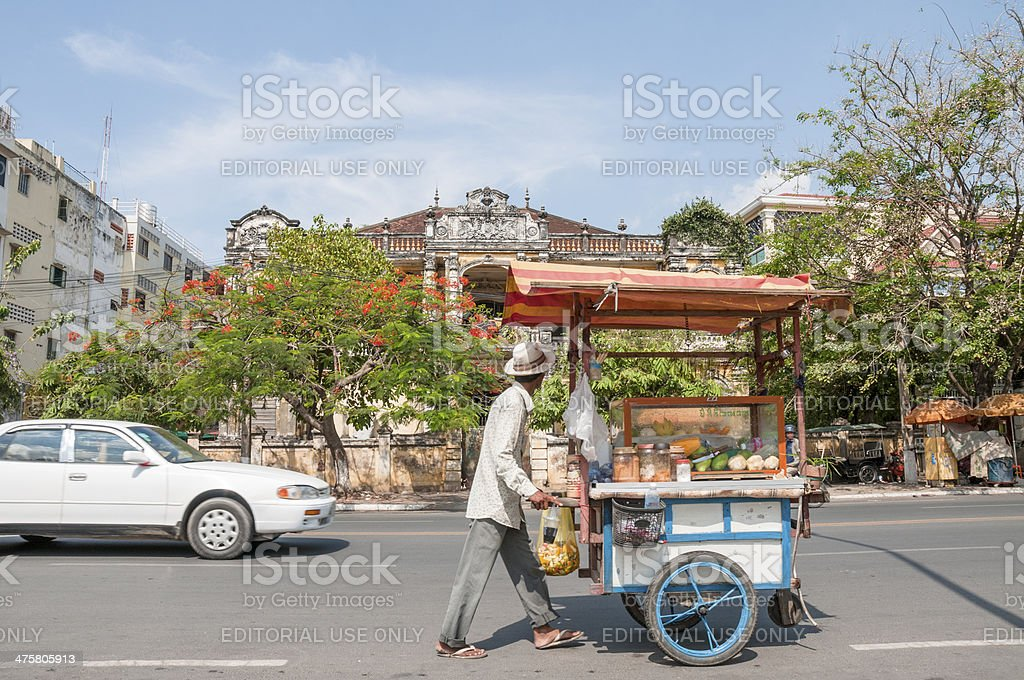 Street Scene In Cambodia royalty-free stock photo