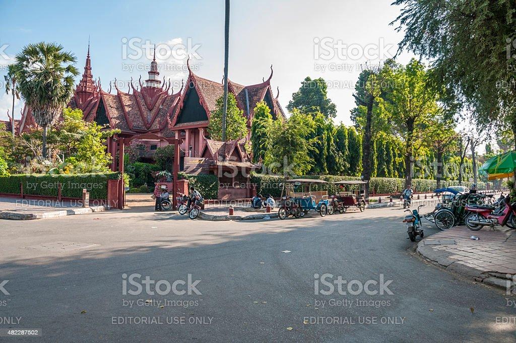 Street Scene In Cambodia stock photo