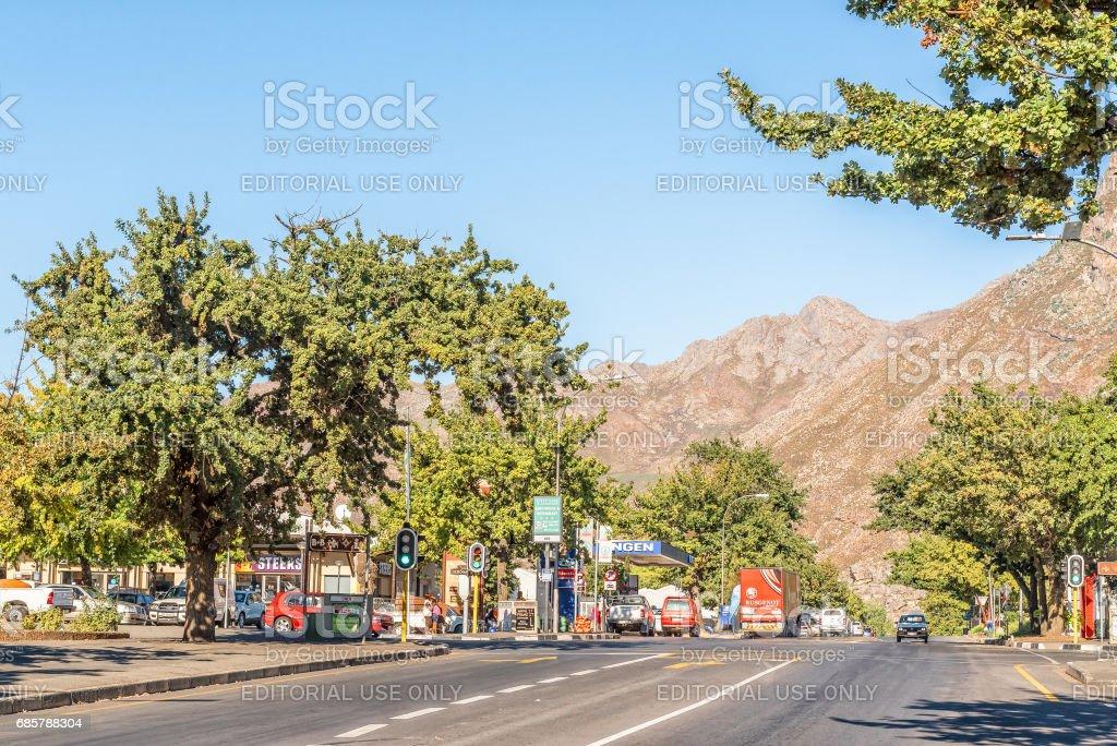 Street scene in Ceres stock photo