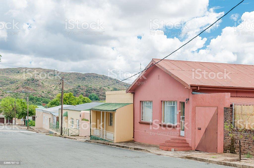 Street scene in Colesberg stock photo
